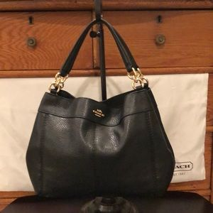 Coach Small Lexy Pebbled Leather Shoulder Bag